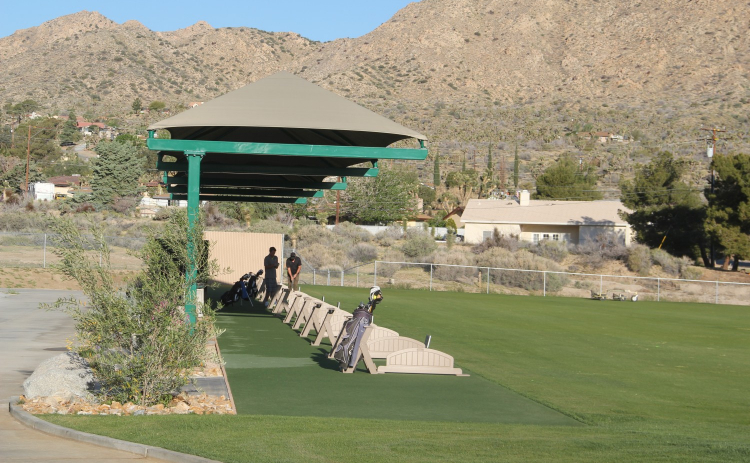 The driving range at Hawk's Landing Golf Club